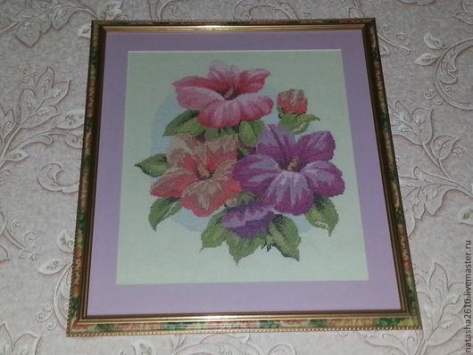 """Картины цветов ручной работы. Ярмарка Мастеров - ручная работа. Купить картина """"Букет цветов"""". Handmade. Картина в подарок, вышивка"""
