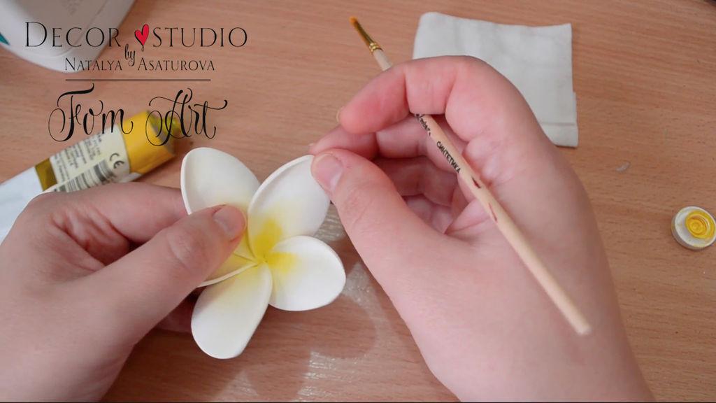 Мастер класс по фоамирану орхидея видео