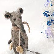 Тедди Зверята ручной работы. Ярмарка Мастеров - ручная работа Тедди Зверята: Крыс серый Кайл. Handmade.