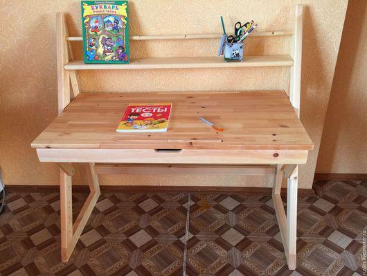 Мебель ручной работы. Ярмарка Мастеров - ручная работа. Купить Растущая парта. Handmade. Парта, купить парту, металлическая фурнитура