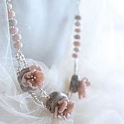 """Украшения ручной работы. Ярмарка Мастеров - ручная работа Колье """"Цветение персика"""". Handmade."""