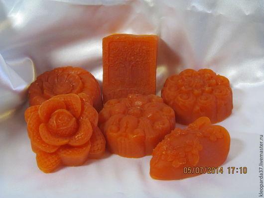 """Мыло ручной работы. Ярмарка Мастеров - ручная работа. Купить Глицериновое мыло """"с нуля"""" """"Камей"""".. Handmade. Оранжевый"""