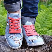 Обувь ручной работы. Ярмарка Мастеров - ручная работа Женские кеды сакура. Handmade.