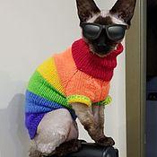 Одежда для питомцев ручной работы. Ярмарка Мастеров - ручная работа Одежда/свитер для кошки сфинкс. Handmade.