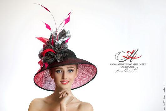 Свадебные и вечерние аксессуары ручной работы. Эксклюзивная шляпа для скачек `Marlene`. Анна Андриенко.