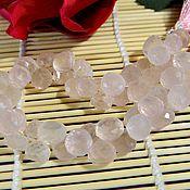 Beads1 handmade. Livemaster - original item Rose Quartz micro faceted onion, 8 x 9 mm. Handmade.