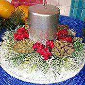 Сувениры и подарки handmade. Livemaster - original item Christmas composition with candles. Handmade.