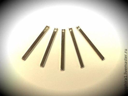 Для украшений ручной работы. Ярмарка Мастеров - ручная работа. Купить Подвеска 32:2,5 мм палочка midi позолоченная. Handmade.