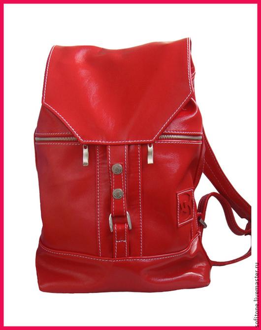 Женские сумки ручной работы. Ярмарка Мастеров - ручная работа. Купить Яркий комплект из красной кожи Люкс. Handmade.