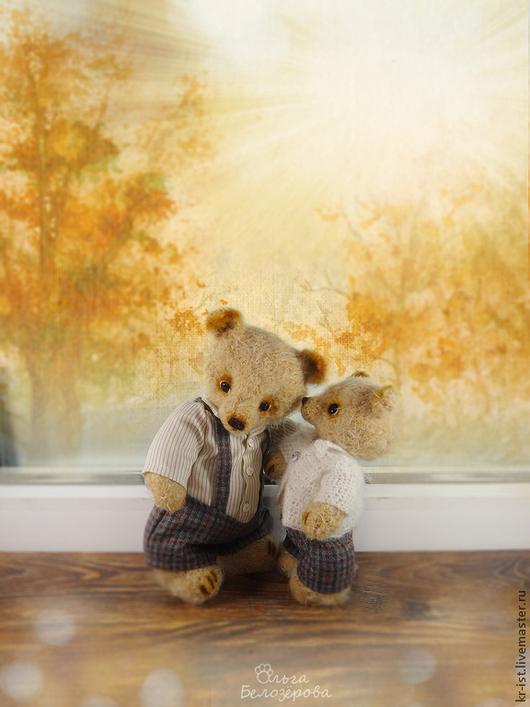 Мишки Тедди ручной работы. Ярмарка Мастеров - ручная работа. Купить Доверие.... Handmade. Коричневый, грусть, вязаный мишка
