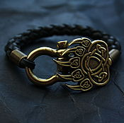 Украшения handmade. Livemaster - original item Leather bracelet paw Velez. Handmade.