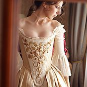 Одежда handmade. Livemaster - original item Medieval bridesmaid dress Reconstruction. Handmade.