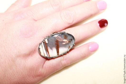 Кольца ручной работы. Ярмарка Мастеров - ручная работа. Купить Золотая рыбка. Handmade. Кольцо с камнем, серебро 925 пробы