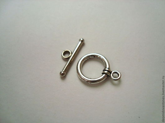 Для украшений ручной работы. Ярмарка Мастеров - ручная работа. Купить Замочек Тогл, под серебро, арт 002. Handmade.