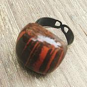 """Украшения ручной работы. Ярмарка Мастеров - ручная работа Керамическое кольцо """"Шоколадный Брауниз"""". Handmade."""