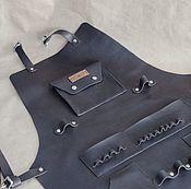 Подарки к праздникам handmade. Livemaster - original item Apron leather, apron leather. Handmade.