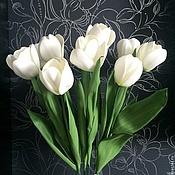 Цветы и флористика ручной работы. Ярмарка Мастеров - ручная работа Букет тюльпанов Дыхание весны. Handmade.