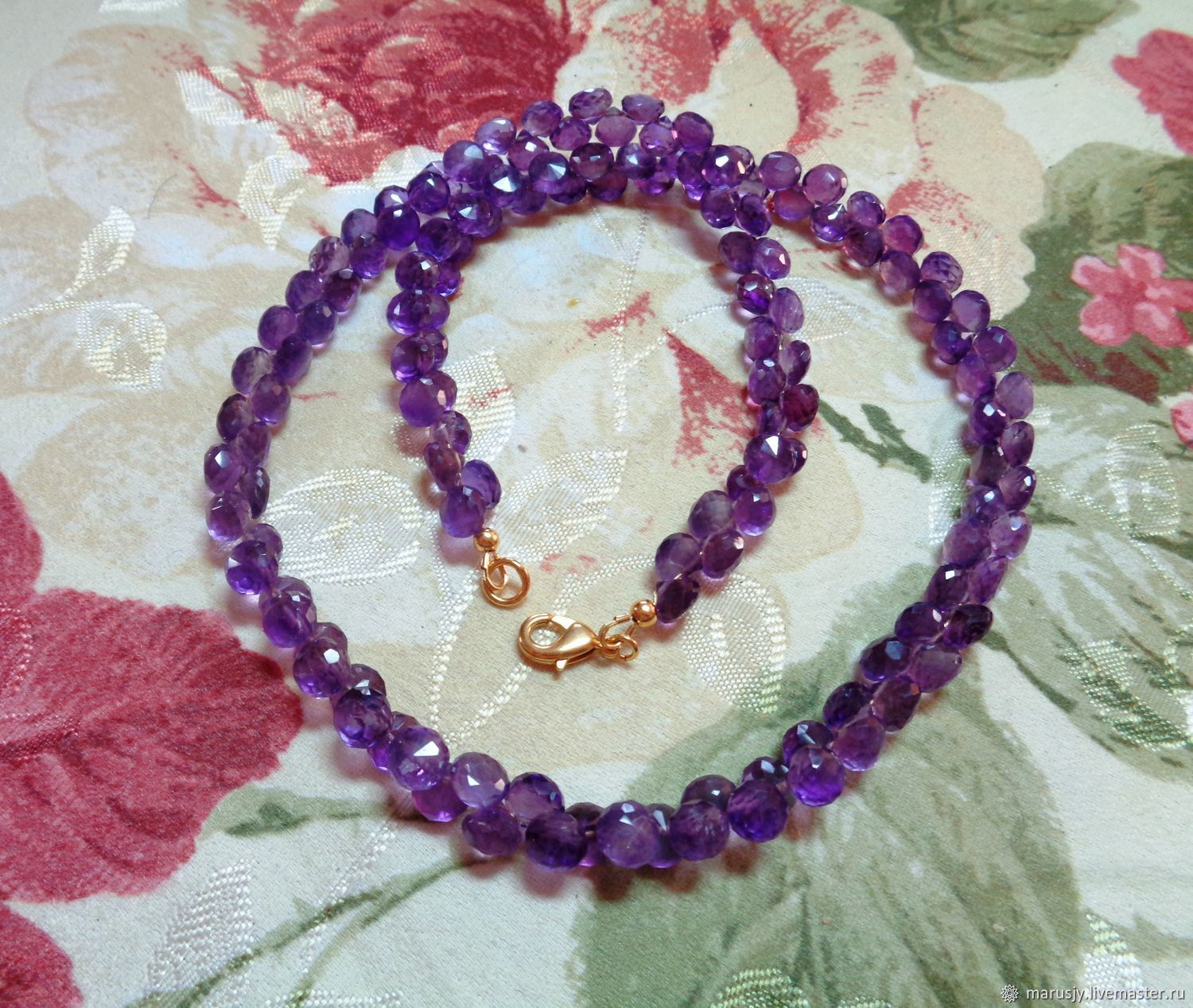 Amethyst necklace (bow shape) and 585 Gold Filled, Necklace, Sergiev Posad,  Фото №1