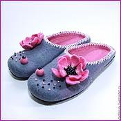 """Обувь ручной работы. Ярмарка Мастеров - ручная работа Тапочки """"Анемоны"""". Handmade."""
