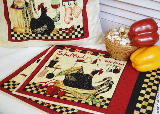 """Кухня ручной работы. Ярмарка Мастеров - ручная работа. Купить Ланчмат  """"Chicken"""". Handmade. Ланчмат, подарок подруге, дублерин"""