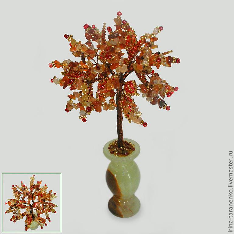 Wish tree from onyx bowl onyx
