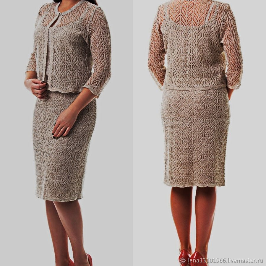 100% linen Openwork suit ' Style and beauty', Suits, Kostroma,  Фото №1