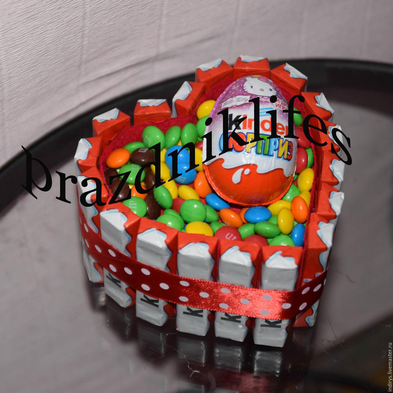 Торт-сердце мини подарок на любой случай, Подарки, Москва, Фото №1