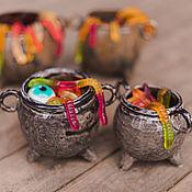 Фен-шуй и эзотерика handmade. Livemaster - original item Gray Iron Witch`s Cauldron - ceramic vessel. Handmade.