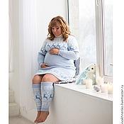 Одежда ручной работы. Ярмарка Мастеров - ручная работа Платье-свитер вязаное для будущих мам В ожидании чуда. Handmade.