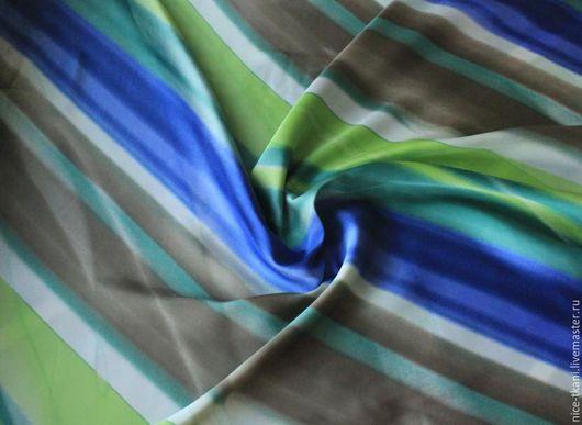 """Шитье ручной работы. Ярмарка Мастеров - ручная работа. Купить 11901 итальянский искусственный шелк """"весна"""". Handmade. Итальянские ткани"""