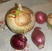 Для дома и интерьера ручной работы. Ярмарка Мастеров - ручная работа Баночки для лука и чеснока (связаться с мастером). Handmade.