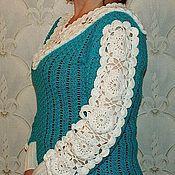 """Одежда ручной работы. Ярмарка Мастеров - ручная работа Блуза """"Белые цветы"""". Handmade."""