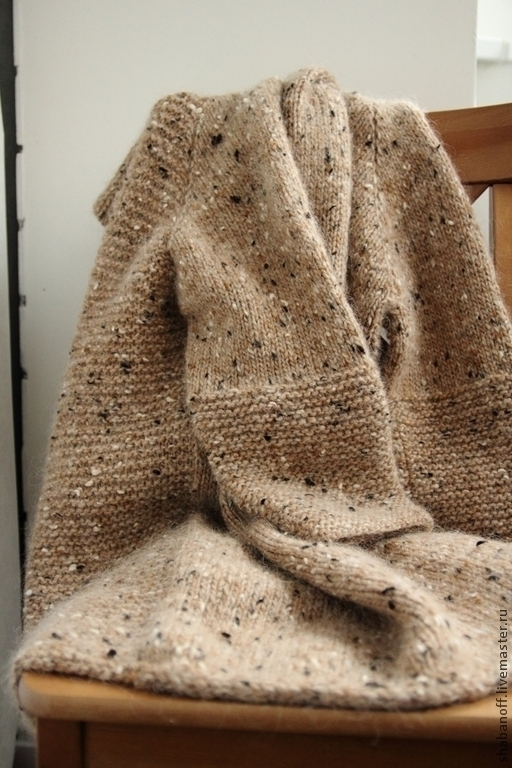 """Верхняя одежда ручной работы. Ярмарка Мастеров - ручная работа. Купить Пальто """"Рижский песок"""". Handmade. Бежевый, кардиган женский"""