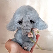 Куклы и игрушки ручной работы. Ярмарка Мастеров - ручная работа Слоненок тедди. Handmade.