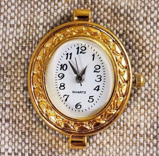 Для украшений ручной работы. Ярмарка Мастеров - ручная работа. Купить Основа для часов Овал с орнаментом №2, золотистые (1шт). Handmade.