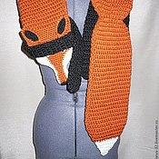 """Аксессуары ручной работы. Ярмарка Мастеров - ручная работа Комплект """"Лиса"""" шарф и варежки. Handmade."""