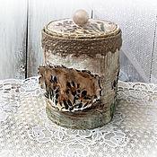 Для дома и интерьера handmade. Livemaster - original item jar-box