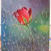 Картины и панно ручной работы. Ярмарка Мастеров - ручная работа Роза за стеклом. Handmade.