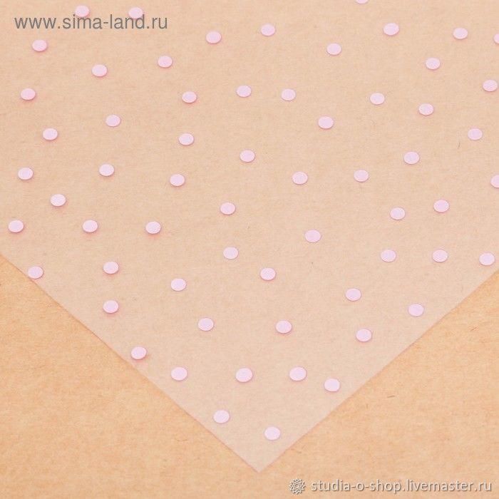"""Ацетатный лист """"Розовый горошек"""" 30,5x30,5, Бумага, Челябинск,  Фото №1"""