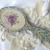 """Для дома и интерьера ручной работы. Ярмарка Мастеров - ручная работа Зеркальце ручное """"Les violettes"""". Handmade."""