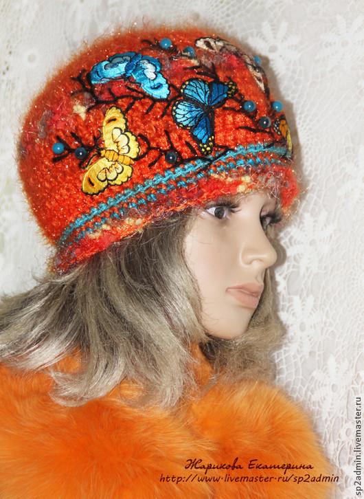 Шапки ручной работы. Ярмарка Мастеров - ручная работа. Купить шапка женская вязаная  ВСПОМИНАЯ СОЛНЕЧНОЕ  ЛЕТО. Handmade. Шапка