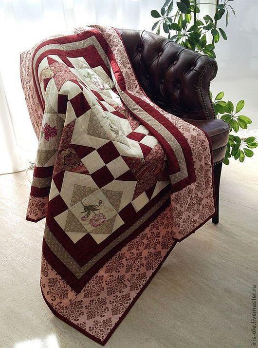 Текстиль, ковры ручной работы. Ярмарка Мастеров - ручная работа. Купить ВИРДЖИНИЯ лоскутный плед. Handmade. Лоскутный плед, плед