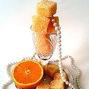 Косметика ручной работы. Ярмарка Мастеров - ручная работа Сочный апельсин скраб сахарный для тела. Handmade.