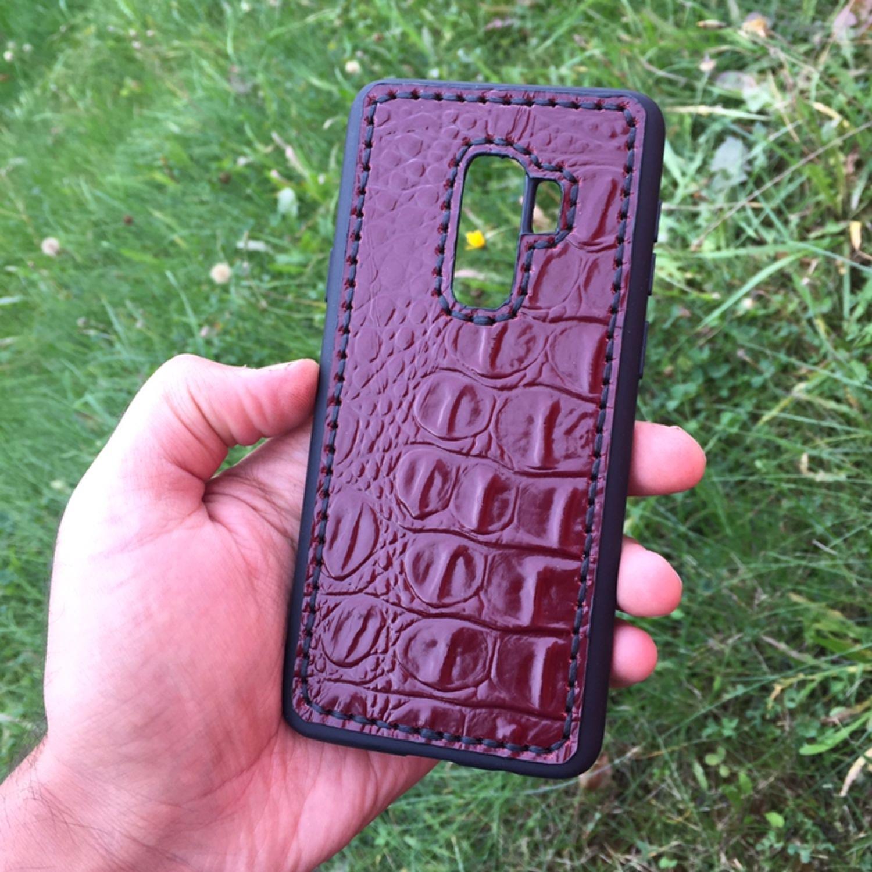 Кожаный чехол «S9» для мобильных устройств Модель: Samsung S9plus, Чехол, Мытищи,  Фото №1