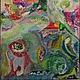 Абстракция ручной работы. Живая музыка Шаинского. Наталия (nataliyamazanik). Интернет-магазин Ярмарка Мастеров. Подарок, подарок на день рождения