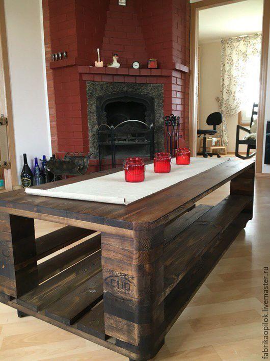 Мебель ручной работы. Ярмарка Мастеров - ручная работа. Купить Стол журнальный. Handmade. Стол, масло, мебель из дерева, сосна