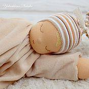 """Вальдорфские куклы и звери ручной работы. Ярмарка Мастеров - ручная работа Сплюшка """"Капучино"""" - вальдорфская куколка. Handmade."""
