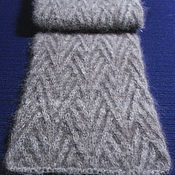 Scarves handmade. Livemaster - original item Men`s knitted scarf Grey. Handmade.