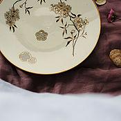 Vintage plates handmade. Livemaster - original item Antique plate 19th century. Aestheticism. England.. Handmade.