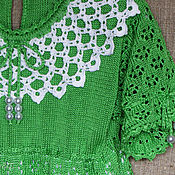 Работы для детей, ручной работы. Ярмарка Мастеров - ручная работа Платье ажурное вязаное детское. Handmade.